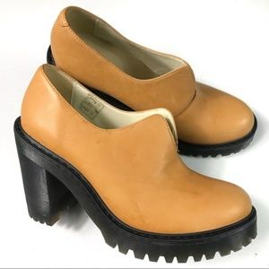 Dr. Martens Chestnut Block Heel Pumps Size 9